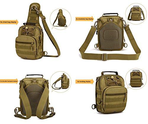 Huntvp® Borsa a Tracolla Uomo Sportivo Borsetta a Monospalla Militare per  Campeggio Escursionismo Ciclismo Viaggio Trekking Porta Smartphone Chiave  Denaro f37aee6f56e