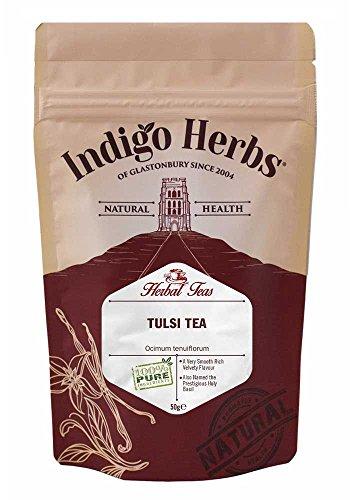 Indigo Herbs Tulsi Lose Kräutertee 50g (Heiliges Basilikum) (Tee Tulsi Lose-blatt)