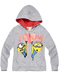Minions Despicable Me Chicas Chaqueta sudadera con capucha 2016 Collection - Gris