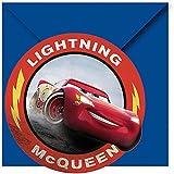12-teiliges * CARS - LIGHTNING Mc QUEEN * Einladungskarten-Set für Kindergeburtstag und Motto-Party | bestehend aus 6 Einladungen und 6 Umschlägen | Disney