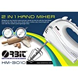 [Sponsored Products]Orbit HM-3010 Hand Blender 300 Watts 2 In 1 Hand Mixer (White & Silver)