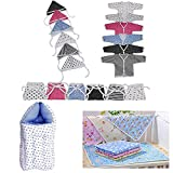 #5: Fareto® New Born Baby 3 in 1 Pack of Daily Needs Items- Set of 23 Items(0-3 Months) (Blue)