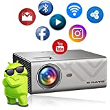 EGATE K9 Android LED 720p 2400 Lumens HD Projector with 4D Digital Keystone