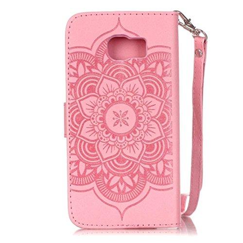 Custodia per iPhone 5, iPhone 5S, iPhone SE Custodia, con protezione per lo schermo in vetro temperato] antigraffio, fatcatparadise (TM) Custodia posteriore in silicone morbido, elegante vintage premu rosa