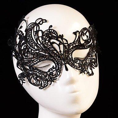 zheENfu Schwarz Sexy Lady Spitze Maske Ausschnitt Augenmaske für Masquerade Party Kostüm, Schwarz (Kostüm Diy Indische Kopfschmuck)
