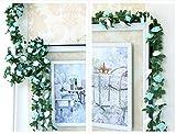 Houda Künstliche Rosenranken-Girlande, künstliche Blumen, für Zuhause, Hotel, Büro, Hochzeit, Party, Garten etc., Dekoration, 2,5 m, blau, 2er-Packung