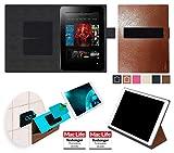 reboon Hülle für Amazon Kindle Fire HD 8.9 Tasche Cover Case Bumper | in Braun Leder | Testsieger