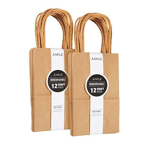 Juvale Kraft-Bag, Geburtstags-Party-Geschenk Favor Bag Set - - Kleine Braun