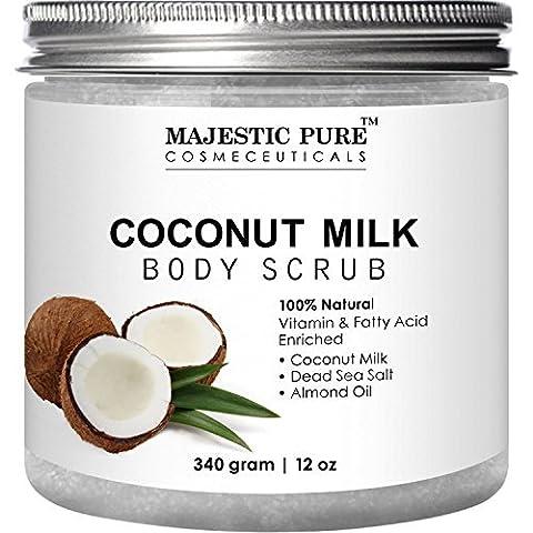 Coconut Milk Body Scrub from Majestic Pure – Anti Cellulite