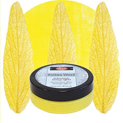 Patina WaxX 50ml -Gelb- Viva Decor Vintage Finish Deko Farbe Dekowachs