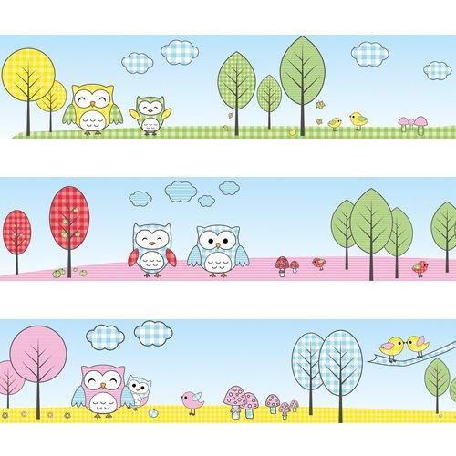 Wandkings Bordüre 'Eulen und Vögelchen' Länge: 450 cm, selbstklebend, für's Kinderzimmer