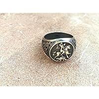 Anello San Giorgio e il Drago collezione Bronzo gioielli moda uomo