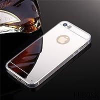 iPhone 44S 55S se 66S Plus + Samsung Galaxy S4S5S6S7Edge Plus J1J3J5J7A3A5G530Note 3Note 4inoxidable elegante funda carcasa transparente Bumper Funda Cover Case Con Espejo Back Cover Trasera de TPU Silicona en plata gris rosa oro