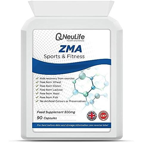 ZMA (Zinco, Magnesio, Vitamina B6) 500mg - 90 Capsule - Neulife Salute e Fitness
