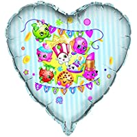 Unique Industries BB42898 Shopkins 28 in. Giant Heart Shape Foil Balloon by Unique Industries