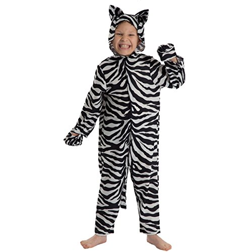 Unbekannt Charlie Crow Zebra Kostüm für Kinder 5-7 - Marty Das Zebra Kind Kostüm