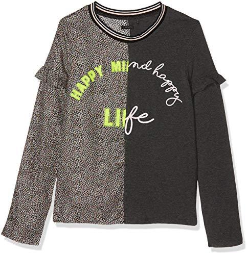 435de5109b3f3 IKKS Tshirt Manches Longues BI-MATIERES, Camiseta para Niñas, (Gris  Anthracite 29