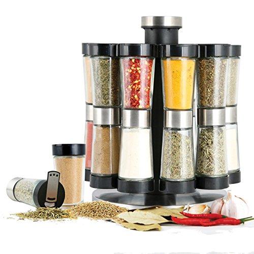 2-in-1 Flipside Spice Rack Set (20 jars) by ORI 20 Jar Spice Rack