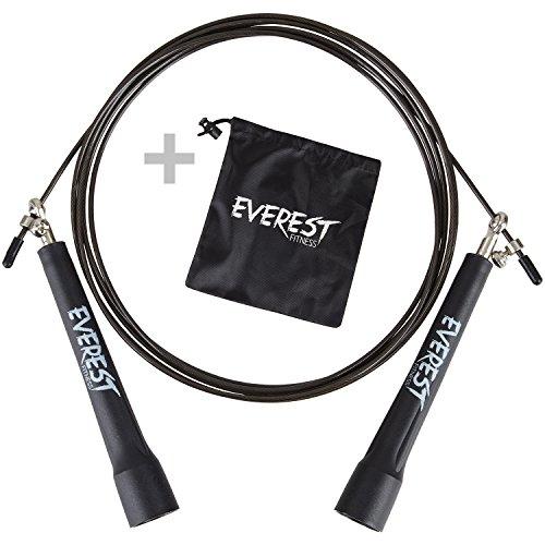 EVEREST FITNESS Profi Springseil mit Kugelgelenk und GRATIS Transporttasche für Sportler | 5 Jahre Zufriedenheitsgarantie | High Speed Seil