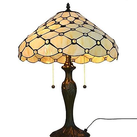 Neu Designed Tischlampe, Nuomeiju @ NMJ039, Bronze Fertig, Nostalgischen Stil mit Metall und Glasmalerei Schatten