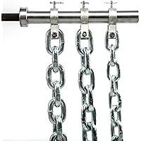 Preisvergleich für Powerketten 16 kg - Paar - Stahl, verzinkt zur Befestigung an der 50 mm Hantelstange