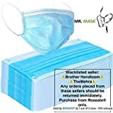 Mr Mask™ Disposable (Pack of 100) Non Woven Anti Bacterial 3 Ply Face Mask with Triple Filtration with Nose Pin