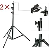 HWAMART ® (2xStands) 2 × Heavy Duty Light Studio stand 300CM cuscino d'aria di alta qualità 3 METER
