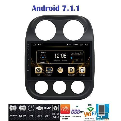 Android 7.1 4G LTE GPS USB DAB+ WI-FI MirrorLink Bluetooth Autoradio Jeep Compass 2010 2011 2012 2013 2014 2015 2016 Jeep Patriot 2011-2016