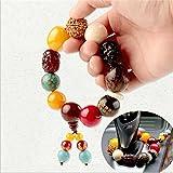 Interesting® Auto Stände Perlen Buddhistischen Sicherheit Und Frieden Symbol Perlen Gebetskette Hängen Auto Ornamente Zubehör