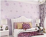Yosot Warme Löwenzahn Mädchen Schlafzimmer Wohnzimmer Zimmer Kinder Tapete Tapete Lila Farbe