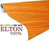 #10: Elton Golden Oak Wood Adhesive Decorative Vinyl Shelf Liner 24 X 48 Inches