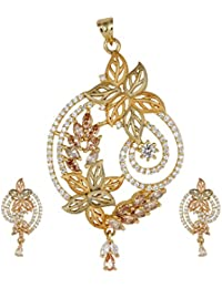 The Plum Fashion Gold Alloy Pendant Set For Women (Pf029)