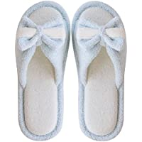 fankou Spring and Summer Couples Stay Cool with a Linen Slippers Female Lovely Wooden Floor Indoor Slippers Male Thick, Non-Slip,36-37, Light Blue (B)