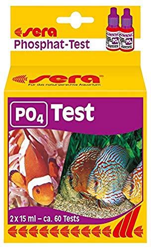 sera 04930 Phosphat Test (P04), Wassertest für ca. 60 Messungen, misst zuverlässig und genau den Phosphatgehalt, für Süß- & Meerwasser, im Aquarium oder Teich