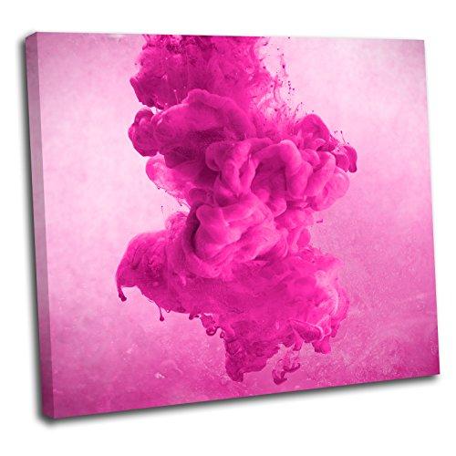 Canvas Culture Abstraktes Smoke Splash Gerahmter Kunstdruck auf Leinwand Bild 4, rose, 90 x 90 cm