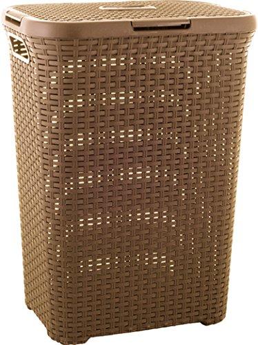 CURVER 3253920707048 Wäschebox, Plastik, braun, 30 x 40 x 60 cm