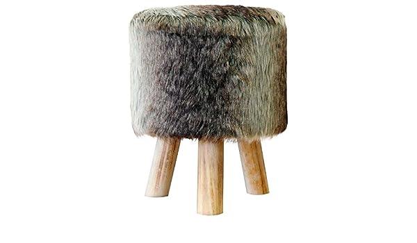 Multistore sgabello in pelliccia vintage amazon casa e