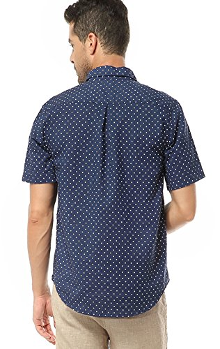 Insun Herren Freizeit-Hemd Blau - Navy