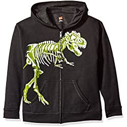 Hanes - Sudadera con capucha - Manga Larga - para niño Dino/Black S
