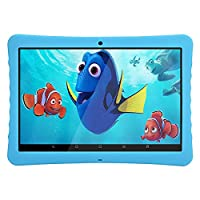 Android Kids Tablet 10 Inches 1080p Full HD Display Tablet,Android 7.0, 2GB+32 GB, Dual Camera Front 2MP+ Rear 5MP, Bluetooth and WiFi, Kid-Proof Case and Parent Control Apps BENEVE(Blue)