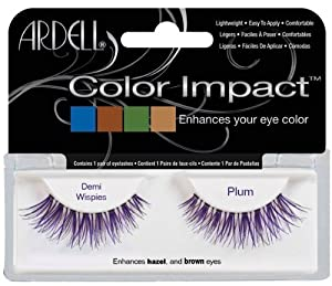 Ardell Color Impact Fake Eyelashes, Demi Wispies Plum by Ardell