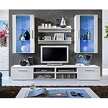 Paris Prix - Ensemble Meuble TV Mural Design galino VII White Blanc d73f4ae9c9ae
