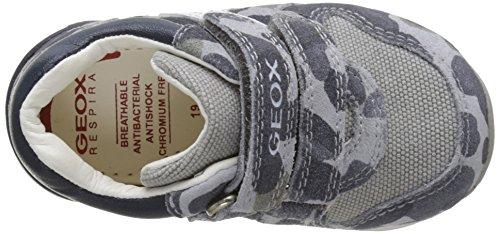 Geox Baby Jungen B Rishon Boy A Sneaker Grau (Grey/Navyc0665)