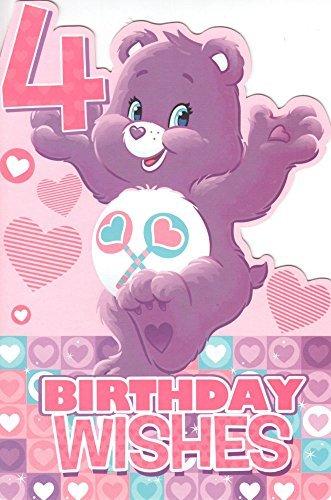 (Care Bears Offiziell 4 Jahre Geburtstag wünsche Karte)