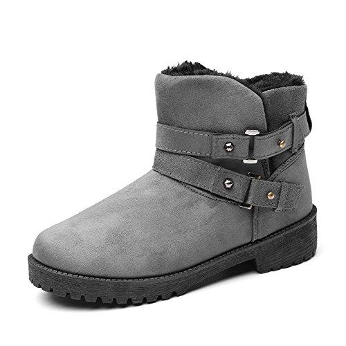 Cotone d'inverno di grandi dimensioni Snow Boots caldo inverno Snow Boots europei e della moda Americana tubo bassa gray