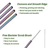 VEHHE Metal Straw Stainless Steel Straws Drinking Reusable Straws 4 Set -10.5 Ultra Long Black Color Cleaning Brush for 20/30 Oz for Yeti RTIC SIC Oz