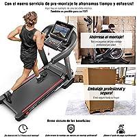 Sportstech Ganador de la Prueba* Cinta Correr Plegable F37 Profesional, Velocidad hasta 20 km/h,Sistema de amortiguación de hasta 150 kg, inclinación del 15%, App. para móviles, MP3 F37 (Montado)
