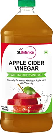 St.Botanica Natural Apple Cider Vinegar with Mother Vinegar - 500 ml - Raw, Unfiltered, UnRefined