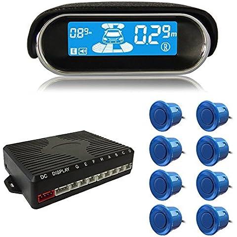 beneglow® Dual-Core anteriore e posteriore display LCD Auto Reverse Backup Radar Sistema con sensori di parcheggio