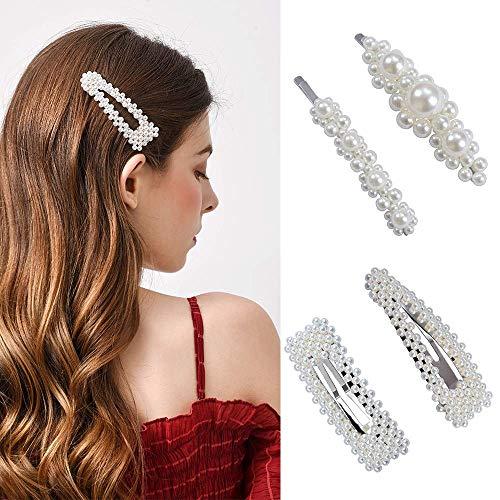 Haarspangen perlen, xpreen 4 stücke Haarklammern Eye-catcher Perlenhaarspange Haarnadeln Brauthaargriffe Haarschmuck Für Hochzeit
